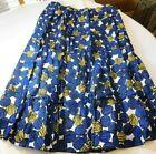Ruby Rd Woman Women's Ladies Long Skirt Size 20W Cobalt Blue Multi NWT