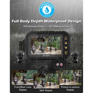 1080P Motorcycle GPS Dash Cam Dual Lens Camera DVR Rear View Recorder Waterproof