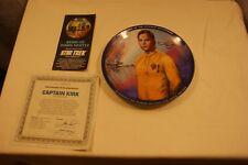 Star Trek Hamilton Collection Plates by Susie Morton Captain Kirk