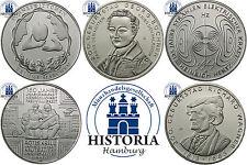 Deutschland 5 x 10 Euro  2013 bfr. Komplettserie aller 5 Münzen in Münzkapseln
