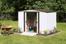 Outdoor Storage Shed Steel 8 ft X 6 ft Yard Tools Garden Lawn Mower Garage Barn