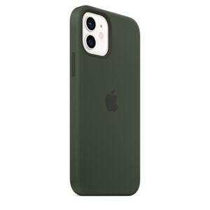 Apple Silikonhülle iPhone 12/Pro mit Magsafe - Cyprus Green/Grün