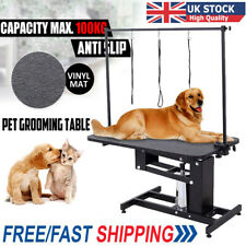 Large Hydraulic Pet Cat Dog Grooming Table Z Lift Trimming Steel Adjustable Arm