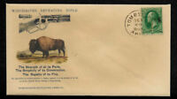 1880s Winchester Bison Hunting Ad Reprint Collector's Envelope OP1364