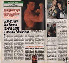 Coupure de presse Clipping 1991 Jean Claude Van Damme  (1 page 1/2)