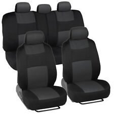 Car Seat Covers for Chrysler 200 2 Tone Charcoal & Black w/ Split Bench