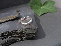 Schöne 925 Silber Ring Geschwungen Modern Gewellt Variabel Größenverstellbar