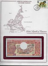 Banknotes of Every Nation Cameroon Cameroun 500 Franc 1983 P15d Unc Prefix A/16