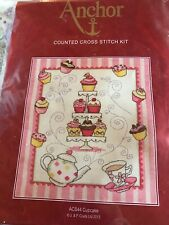 CUTE Cupcake counted cross stitch kit  Anchor  ACS44 sealed