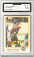 1981-82 O-Pee-Chee #373 Moe Mantha RC | Graded NM/MT+ 8.5 | Winnipeg Jets