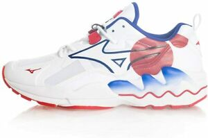 Mizuno Casual Trainers Wave Rider 1 Shape of Time White Red
