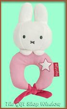 NEW MIFFY PLUSH LOOP RING RATTLE - PINK - BABY GIFT SUPER SOFT TOY - FROM BIRTH