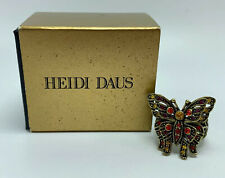 Heidi Daus 3D Multi Stone Gold Tone Butterfly Ladies Ring 12g Size 8 Open Box