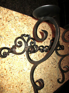 Metal Wall Candle Sconces, Heavy Iron Hacienda Tuscan Medieval Home Decor, NEW