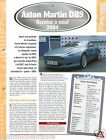 Aston Martin DB9 V12 2004 UK Great Britain Car Auto Voiture FICHE FRANCE