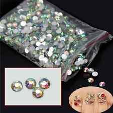 1000Pcs Top New Nail Art Flatback Decoration DIY Crystal AB 14 Resin Beads EY467
