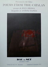 TAPIES Antoni Affiche Lithographie 1973 Tapies Espagne art abstrait abstraction