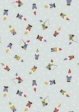 Grandma's Garden Gnomes by Lewis & Irene 100% Cotton Fabric  FQ 50cm x 55cm