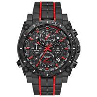 Bulova Men's Quartz Precisionist Chronograph Red Accents 46.5mm Watch 98B313
