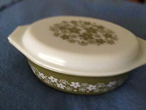 Vintage Pyrex Spring Blossom Casserole Dish With Lid 045 2 & 1/2 Quart Made USA