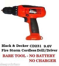 Drill Black & Decker Cordless CD231 9.6-Volt NiCad 3-8-Inch  - NEW BARE TOOL