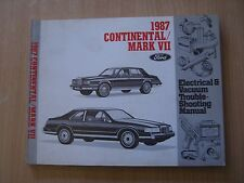 Lincoln Continental / Mark 7 VII 1987 Electrical manual Werkstatthandbuch