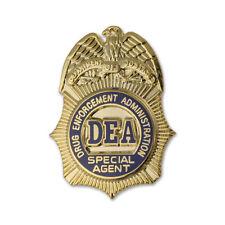 DEA Special Agent badge lapel pin Drug Enforcement Administration NEW Authentic