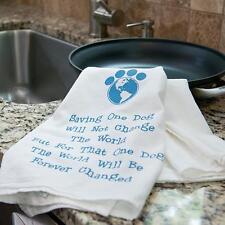 "100% Pre-washed Cotton Kitchen Towel 28"" x 29"" - Saving One Dog..."