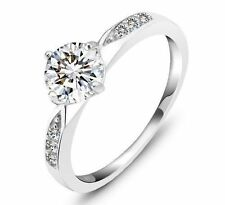 Diamond Solitaire Round Fine Gemstone Rings