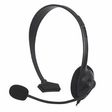 BLACK HEADPHONE HEADSET MICROPHONE FOR XBOX 360 LIVE