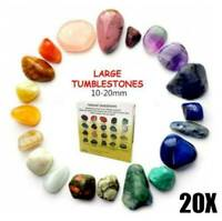 UK Set of 20 Healing Crystal Natural Gemstone Reiki Chakra Collection Stone Kit.