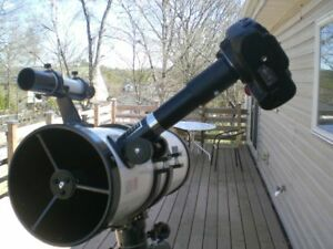 Canon EOS camera to Telescope for VARIABLE PROJECTION PHOTOGRAPHY & prime focus