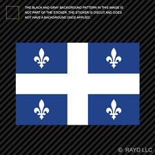 Quebec Flag Sticker Decal Self Adhesive Vinyl Canada qc province