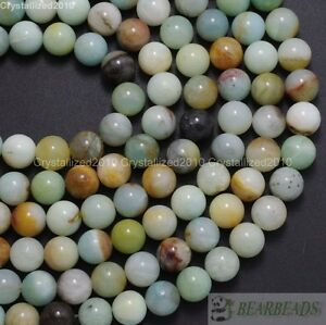 """Natural Colorful Amazonite Gemstone Round Beads 4mm 6mm 8mm 10mm 12mm 14mm 15.5"""""""
