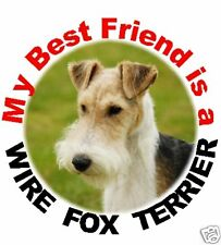 2 Wire Fox Terrier Car Stickers By Starprint