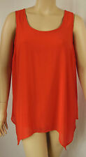 Autograph Red Poppy Sleeveless Polyester Peaked Tunic Top Plus Size 16 BNWT #P87