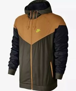 Men's Nike Windrunner Jacket Brown Orange size XXL 727324 347
