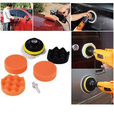 """7pc Auto Car Polish Wax 3"""" Foam Sponge Pad Polisher Buffer Set+Drill Adapter Kit"""