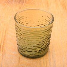 Anchor Hocking Soreno Green Short Cup Glass Vintage Mid Century Modern