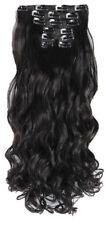 Extensiones de pelo negro largo