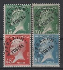 "FRANCE STAMP PREOBLITERE 65 / 68 "" PASTEUR 4 TIMBRES "" NEUFS xx TTB  P726"