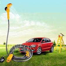 Portable 12V Electric Car Plug Outdoor Camper Caravan Van Camping Travel Shower
