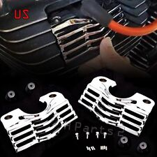 US Chrome Slotted Covers For Spark Plug-Head For Harley FLHR/T/X FLTR Road King