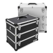 Alu Etagen Werkzeug Koffer Foto Kiste 3 Ebenen BOX Truhe Tragegurt abschließbar