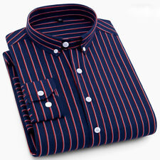New Mens Fashion Button Down Formal Long Sleeve Striped Dot Dress Shirts ZC6448