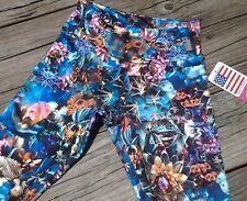 KOS USA Athletic capri tight sz XS Floral print