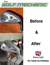 Wilson FG Tour V6 Iron Sandblasting (Titleist 718, Mizuno MP-18 also available)