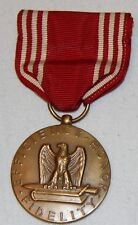 Vtg Military Medal Efficiency Honor Fidelity For Good Conduct Bronze WWII