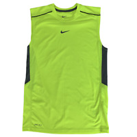 Nike Small Neon Yellow Sleeveless Shirt Dri-Fit Athletic Workout Running Exercis