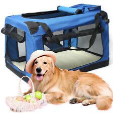 Blue S M L XL XXL Pet Soft Crate Portable Dog Cat Carrier Travel Cage Kennel AU